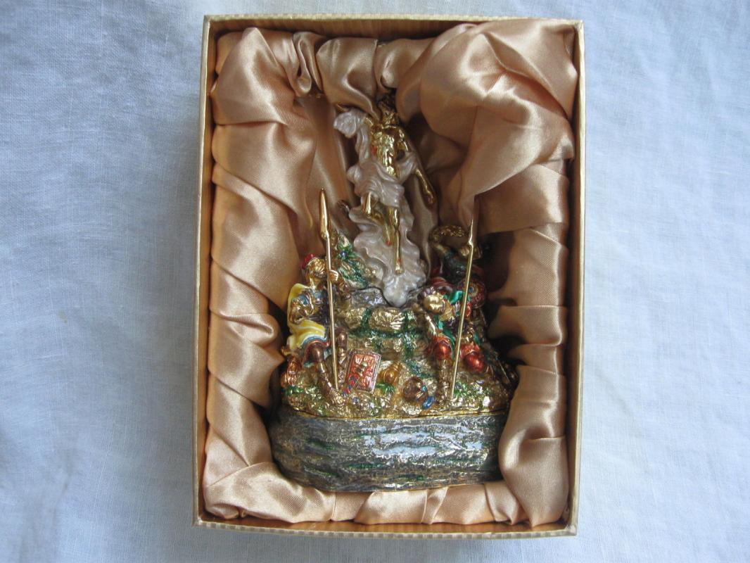 He Is Risen Indeed Jesus Christ Resurrection Trinket Box Soldiers 2006 Hinn Ministries