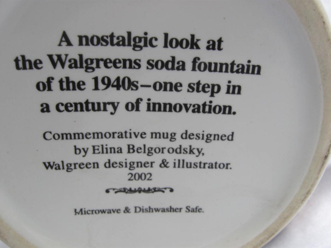 2002 Walgreen 1940's Soda Fountain Commemorative Mug by Elina Belgorodsky
