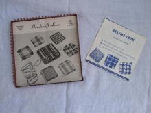 Vintage Handicraft Weaving Loom Plus  Instructions