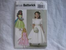 New Butterick BP 248 Childrens Girls'  Dress & Cummerbund Sewing Pattern