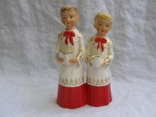 Vintage Christmas Choir Boys With Dirty Faces Candle Holder Carolers Schmid Bros