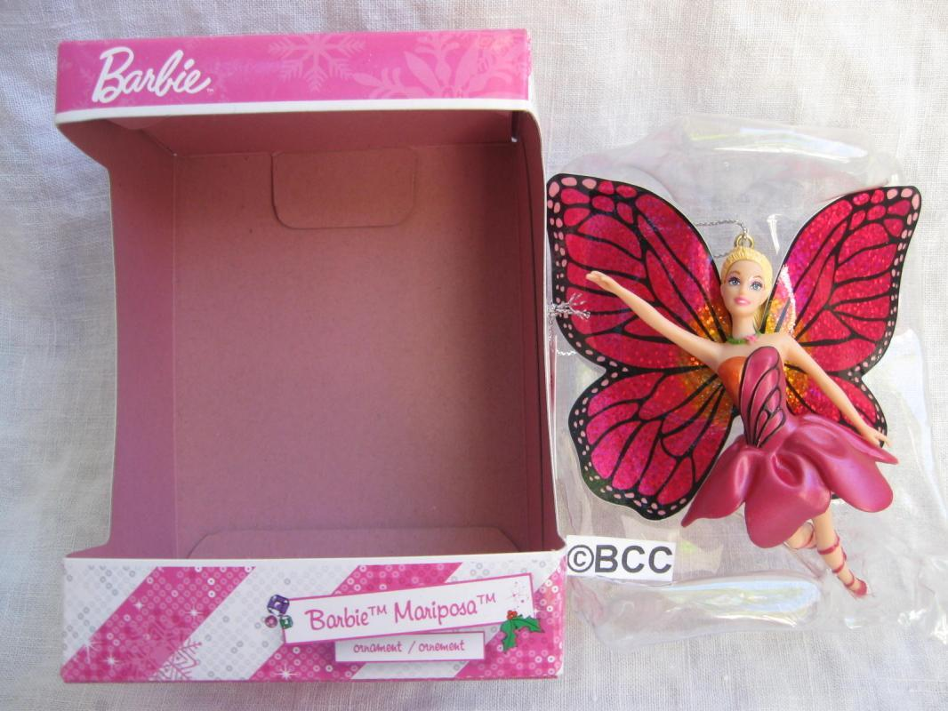 Carlton American Greetings Barbie Mariposa Butterly Fairy 2013 Christmas Ornament