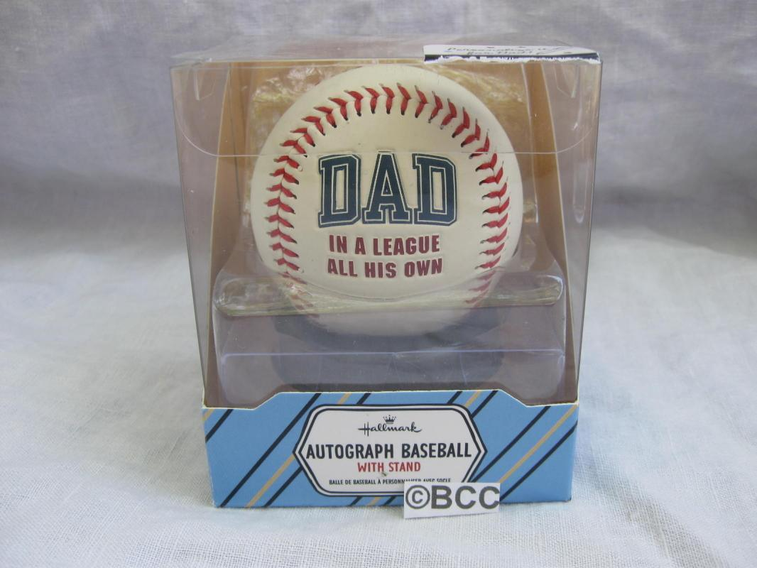 Hallmark 2014 Dad Father's Day Autograph Baseball & Stand New