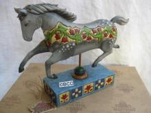 Jim Shore Dappled Grey Running Horse A Day In The Country Figurine