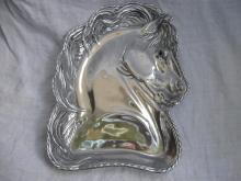 2004 Arthur Court Horse Platter Plate Black Eye