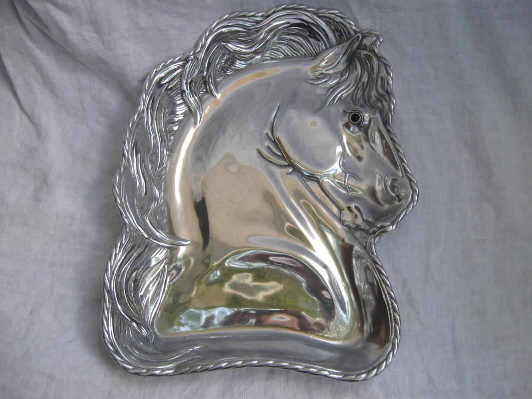 2004 Arthur Court Horse Platter Plate Black Eye