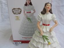 Hallmark 2014 Scarlett's White Dress Gone With The Wind Limited Ornament GWTW Scarlett