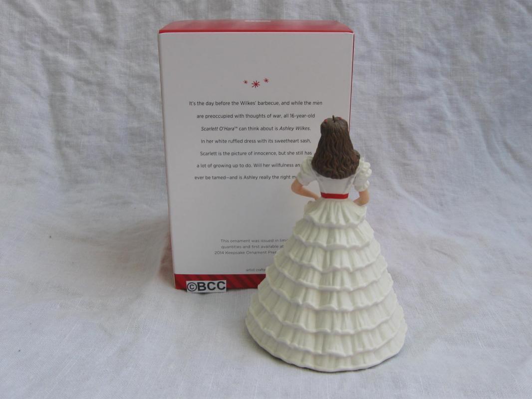 Hallmark 2014 Scarlett's White Dress Gone With The Wind Limited Ornament GWTW Scarlett