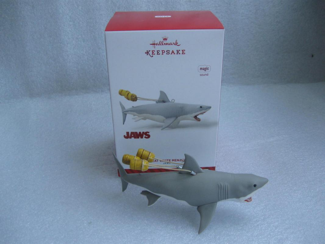 Great white shark christmas ornaments - Hallmark 2014 Great White Menace Jaws Ornament With Sound Christmas
