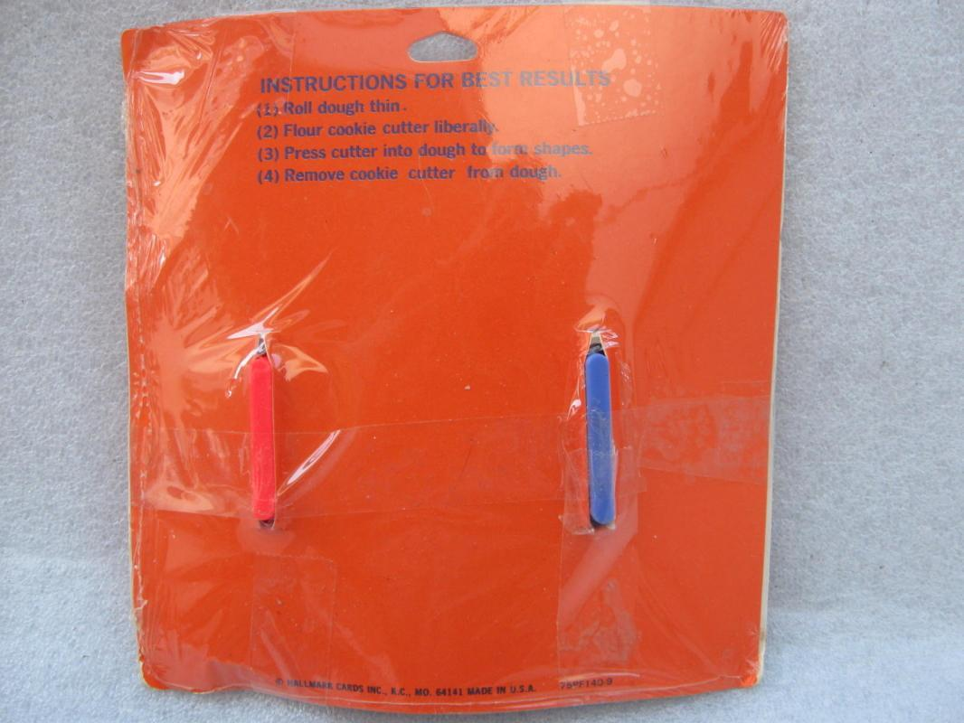 New Vintage Hallmark Raggedy Ann & Raggedy Andy Cookie Cutters In Original Package