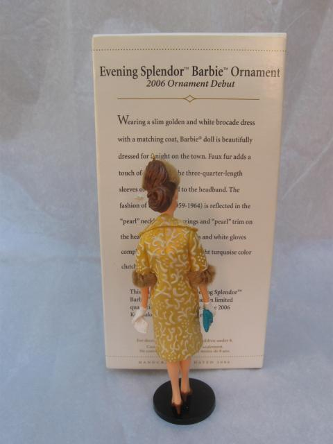 Hallmark 2006 Evening Splendor Barbie Special Limited Quantity Repaint Christmas Tree  Ornament