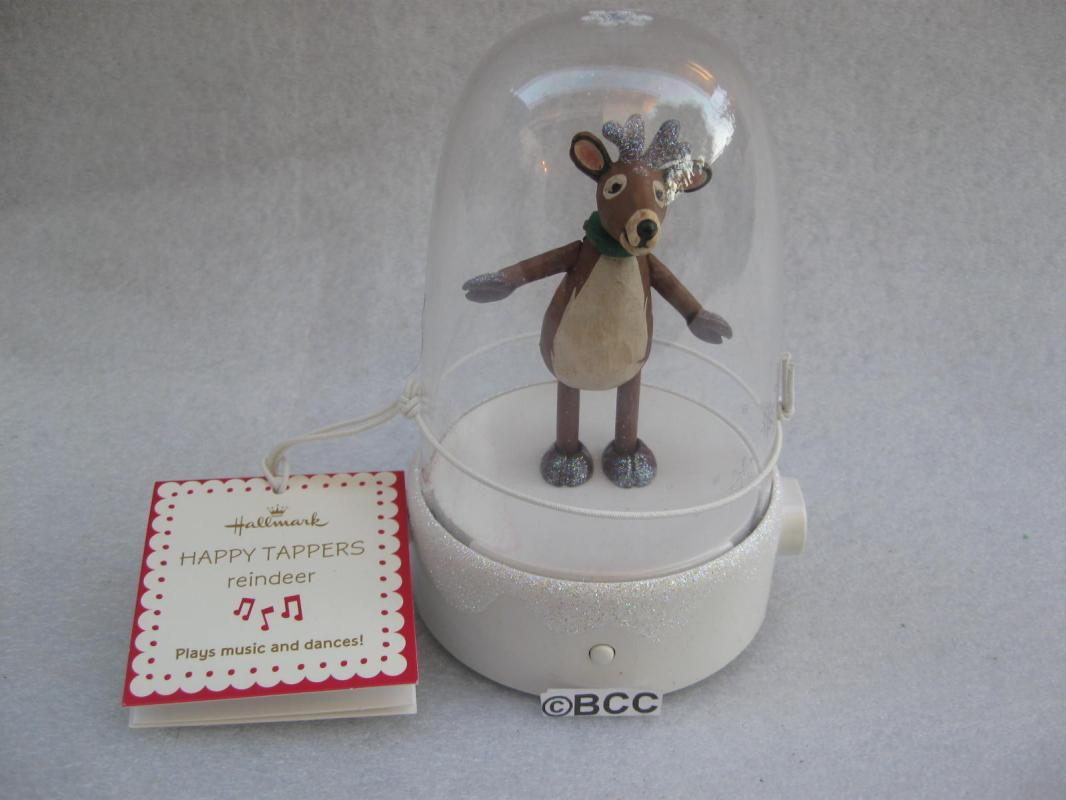 Hallmark Happy Tapper Reindeer  Tabletop Display Magic Movement & Music