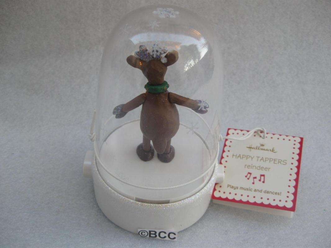 Hallmark Happy Tapper Reindeer  Tabletop Display Magic Movement & Music