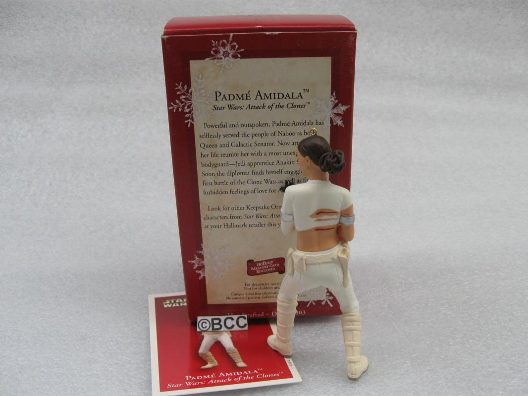 Hallmark 2003 Padme Amidala Star Wars Attack Of The Clones Christmas Tree Ornament