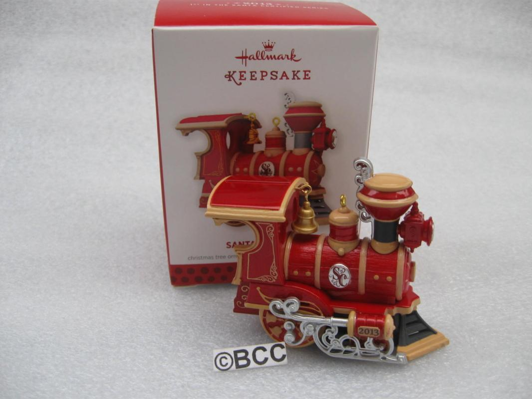 Hallmark 2013 Santa Certified Locomotive Train 1st In Series Christmas Ornament