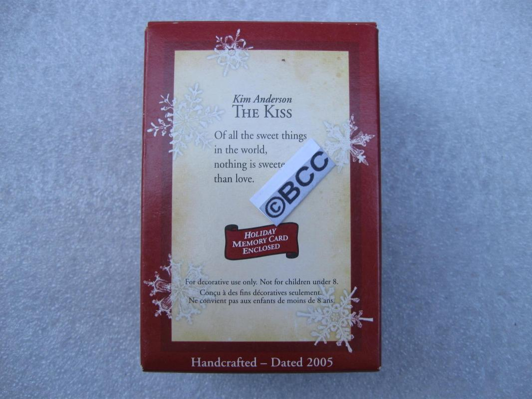 Hallmark 2005 The Kiss Love & Romance Christmas Ornament Valentines Day