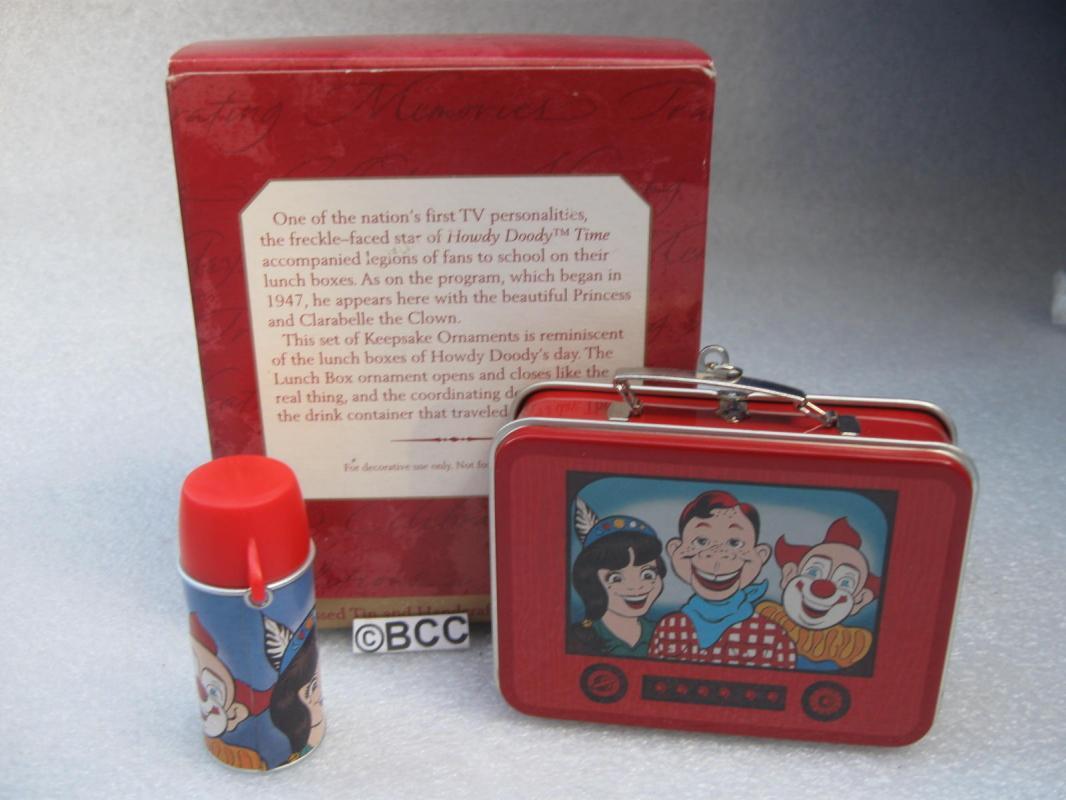 Hallmark 1999 Howdy Doody Lunchbox Set Of 2 Ornaments