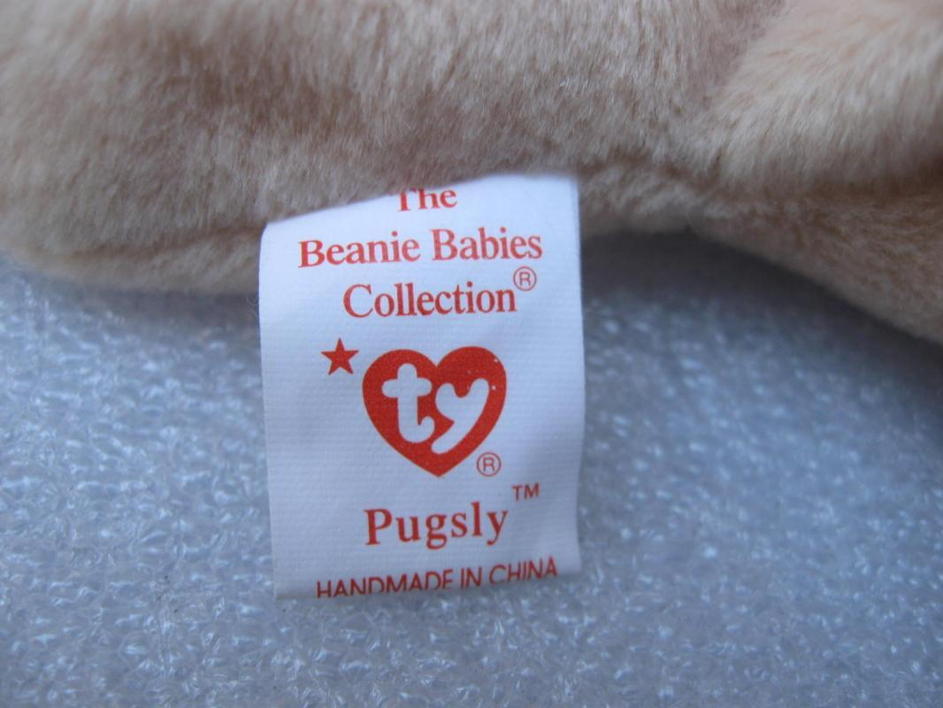 Ty Pugsley The Pug - Puppy Dog - Retired Beanie Baby