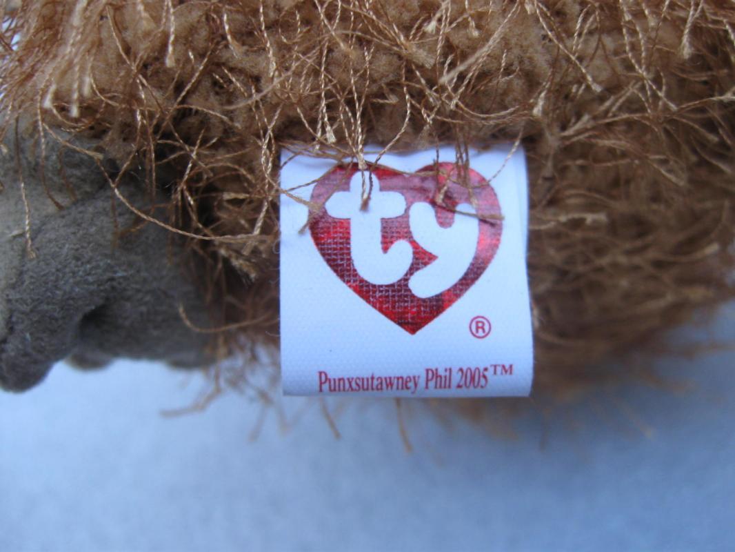 Ty Punxsutawney Phil 2005 Groundhog Day Beanie Baby