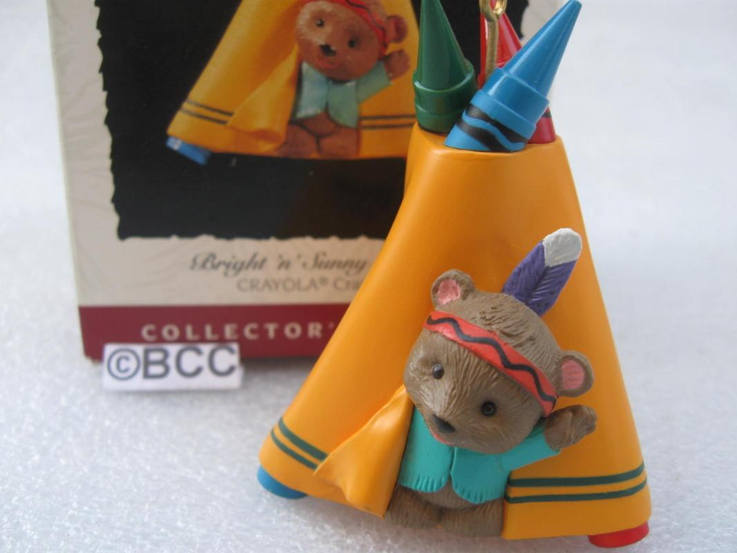 Hallmark 1995 Bright 'n' Sunny Tepee Crayola Crayons 7th In Series Ornament
