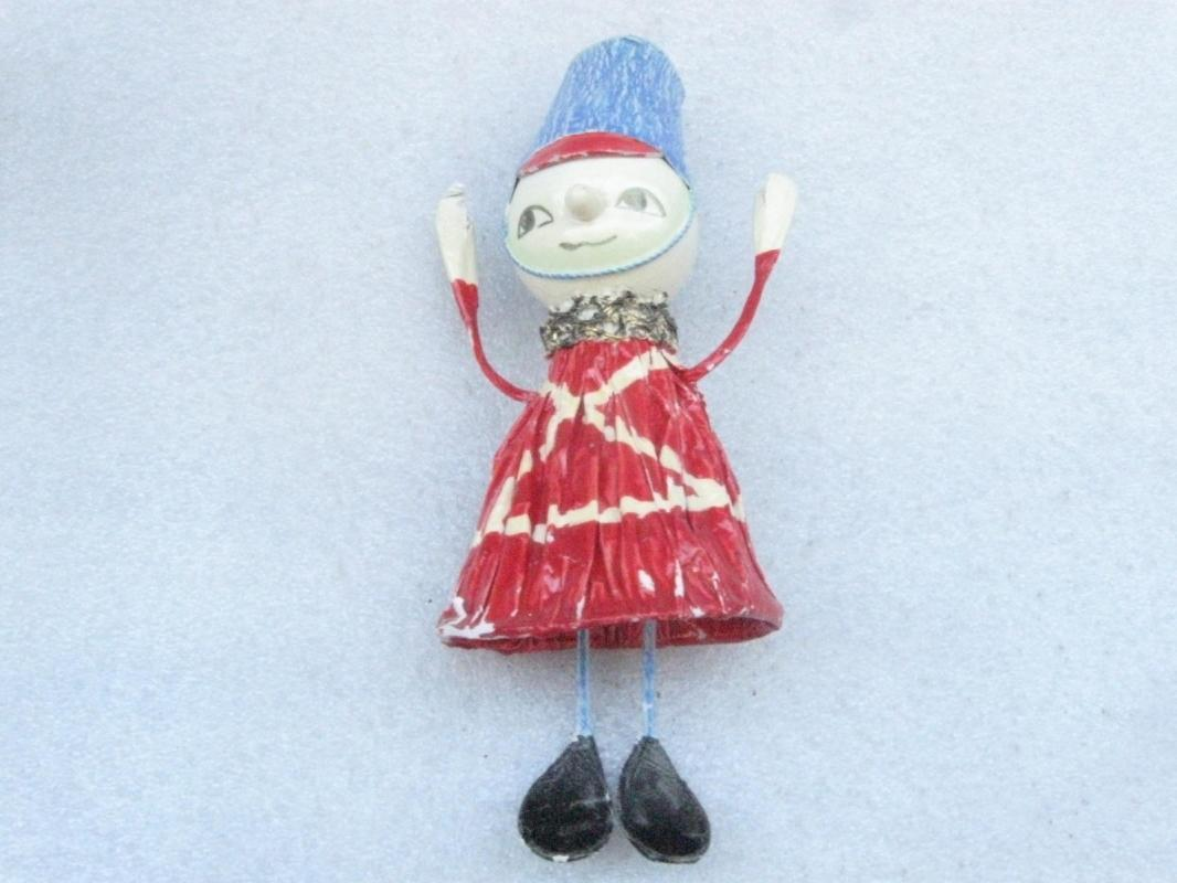 Vintage Fitz & Floyd Toy Soldier Bell Shaped Christmas Ornament