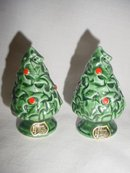 2 Sets of Christmas Tree Salt & Pepper Shakers  Lefton & Gemco