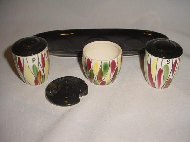 Eames Era Salt & Pepper Shakers with Sugar Jar - 5 Pieces
