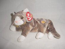 Ty Beanie Baby Cappuccino The Cat - Beanie of the Month