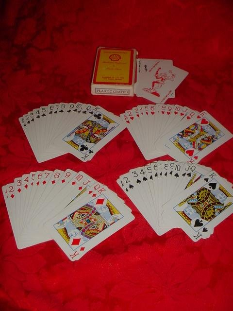 Shell Gas Station Playing Cards