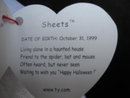 Ty  Sheets The Halloween Ghost Beanie Baby