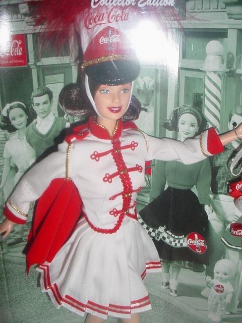 Coca-Cola Barbie Coca Cola Coke Barbie Doll Majorette