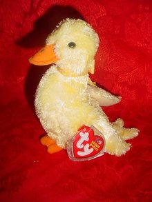 Ty Beanie Baby Duck-e The Duck Ty Exclusive