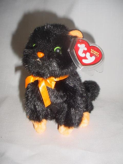 Ty Exclusive Beanie Baby Jinxy The Black Cat - Retired