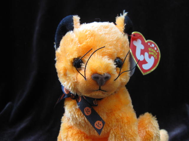 Ty Exclusive Beanie Baby Scared-e The Halloween Cat - Retired