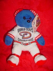 2001 Arizona Diamondbacks Baseball World Series Bear