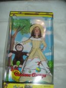 Curious George & Barbie Doll - NRFB New Old Stock