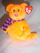Ty Beanie Baby Shivers The Halloween Teddy Bear  Ghost - Retired