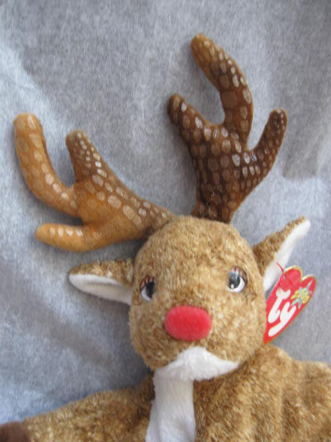 Ty Roxie The Red Nosed Christmas Reindeer Beanie Baby
