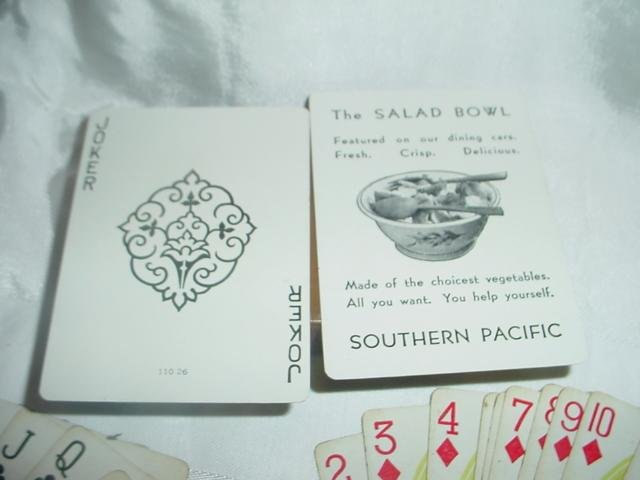 Southern Pacific Railroad Advertising Playing Cards