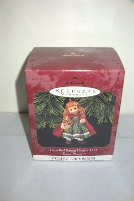 Hallmark 1991 Little Red Riding Hood Madame Alexander Christmas Tree Ornament