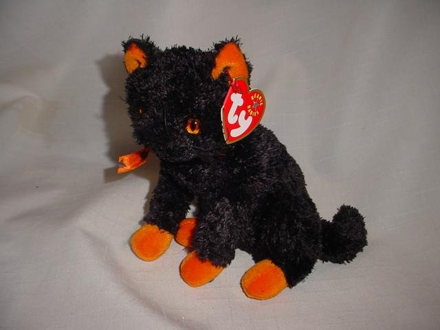 Ty Halloween  Fraidy The Black Cat  Retired Beanie Baby