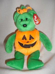 Ty Beanie Baby Jack-O-Lantern Halloween  Bear