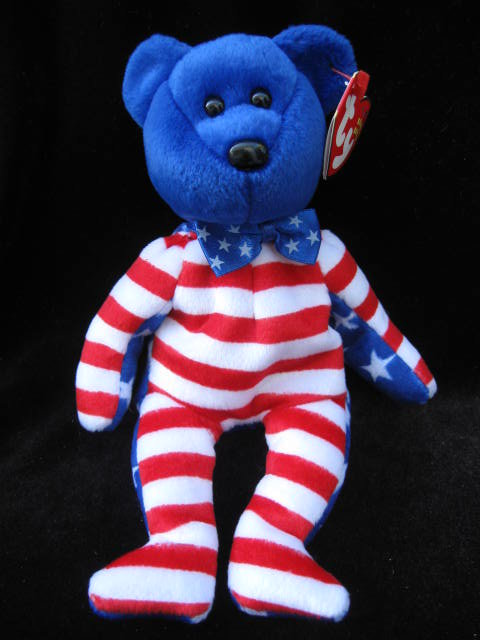 Ty  Blue Liberty The Patriotic Bear  Beanie Baby