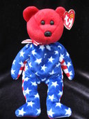 Ty Beanie Baby Red Liberty The Patriotic Bear
