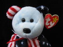Ty  Blue Face Spangle Retired Beanie Baby