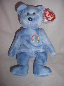 Ty Peace Symbol Beanie Baby Bear
