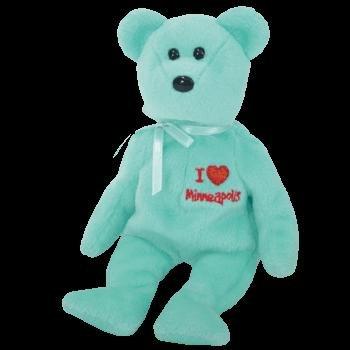 Ty I Love Minneapolis State Capital Beanie Baby Bear