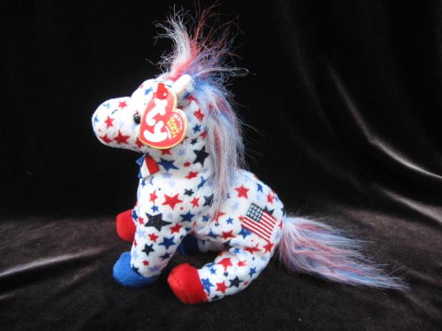 Ty Lefty 2004 The Democratic Donkey Retired Beanie Baby