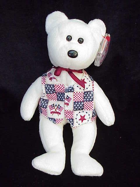 Ty Libert-e (Liberty) Patriotic Beanie Baby Teddy Bear