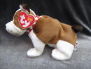 New Ty  Huggins The Bull Dog Beanie Baby